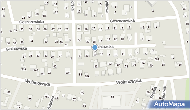 Radom, Gielniowska, 19, mapa Radomia