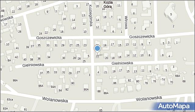 Radom, Gielniowska, 22, mapa Radomia