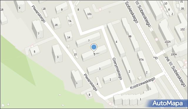 Warszawa, Gierymskiego Aleksandra, 5, mapa Warszawy