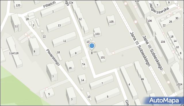 Warszawa, Gierymskiego Aleksandra, 8, mapa Warszawy