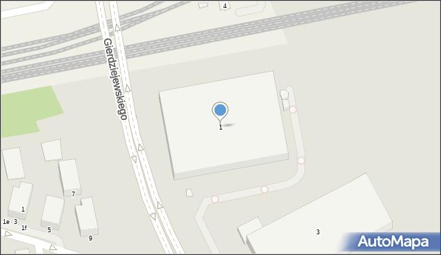Warszawa, Gierdziejewskiego Kazimierza, 1, mapa Warszawy
