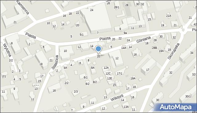 Białystok, Gliniana, 10, mapa Białegostoku