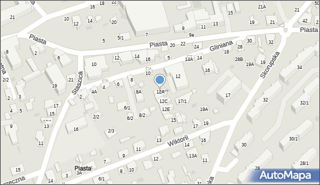 Białystok, Gliniana, 12A, mapa Białegostoku