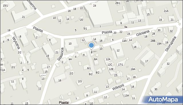 Białystok, Gliniana, 8, mapa Białegostoku