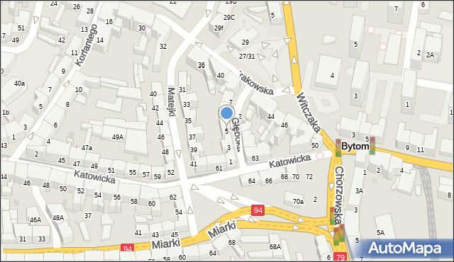 Bytom, Głęboka, 5, mapa Bytomia