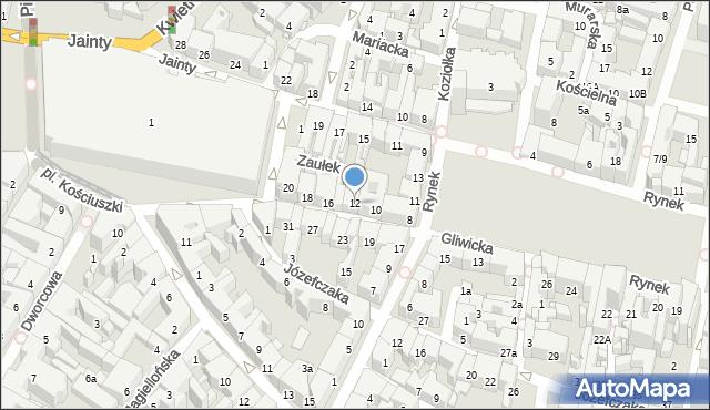 Bytom, Gliwicka, 12, mapa Bytomia