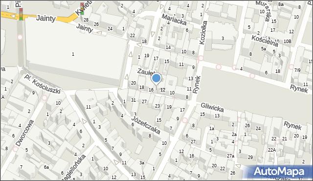 Bytom, Gliwicka, 14, mapa Bytomia