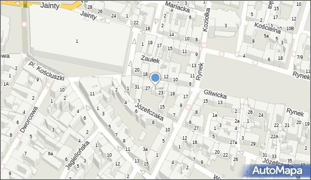 Bytom, Gliwicka, 25, mapa Bytomia