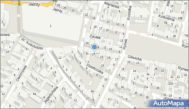 Bytom, Gliwicka, 27/29, mapa Bytomia