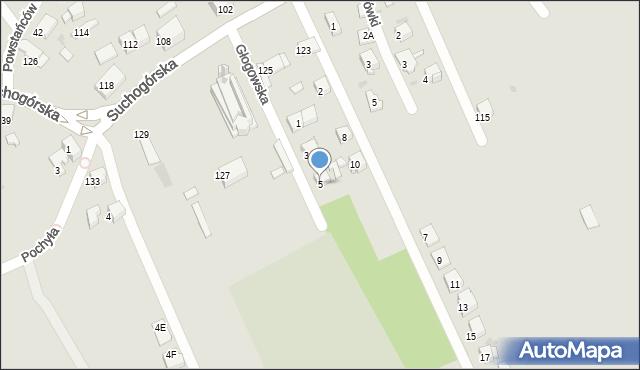 Bytom, Głogowska, 5, mapa Bytomia