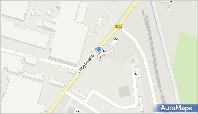 Chocianów, Głogowska, 14, mapa Chocianów