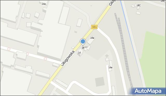 Chocianów, Głogowska, 16, mapa Chocianów