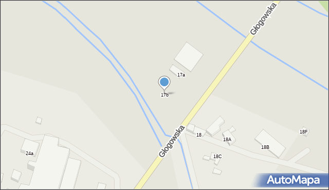 Chocianów, Głogowska, 17b, mapa Chocianów