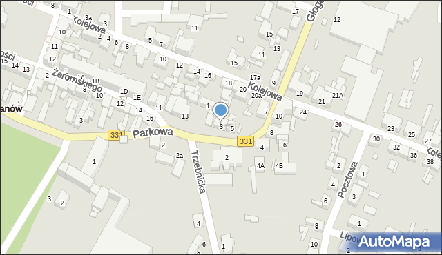 Chocianów, Głogowska, 3, mapa Chocianów