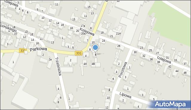Chocianów, Głogowska, 6, mapa Chocianów