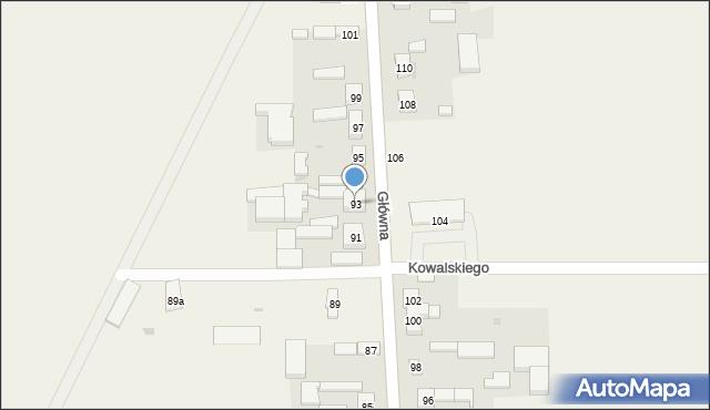 Czarnocin, Główna, 93, mapa Czarnocin