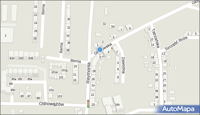 Gliwice, Głogowska, 2, mapa Gliwic