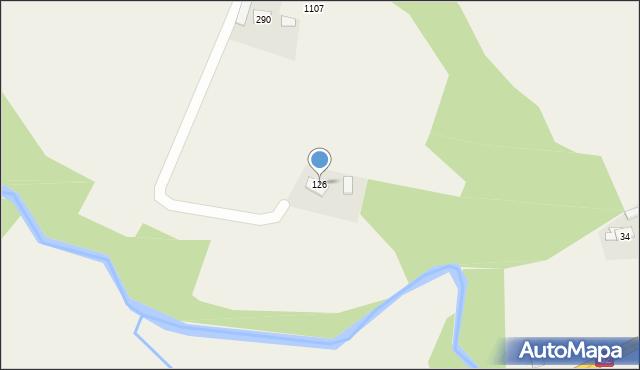 Głogoczów, Głogoczów, 126, mapa Głogoczów