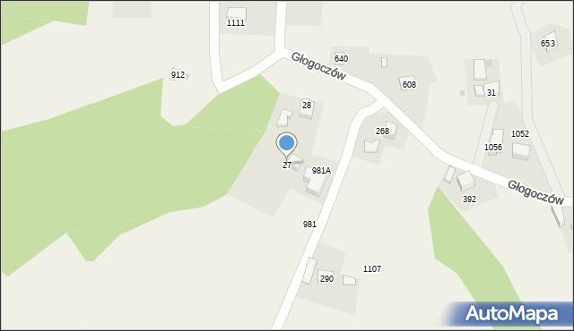Głogoczów, Głogoczów, 27, mapa Głogoczów