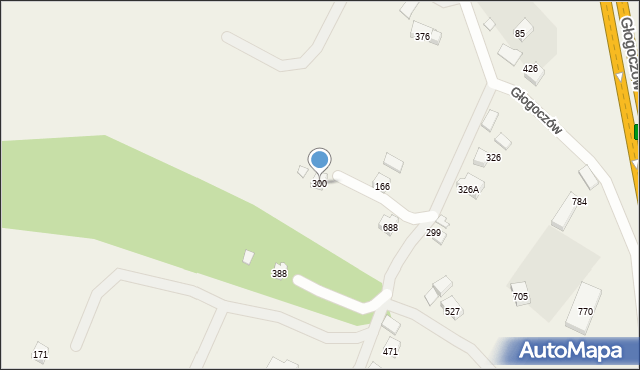 Głogoczów, Głogoczów, 300, mapa Głogoczów