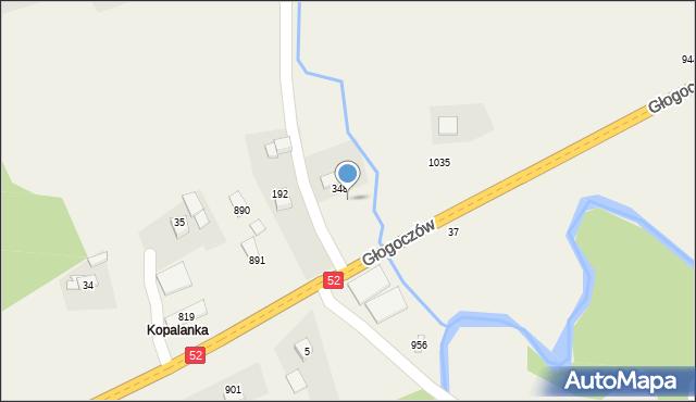 Głogoczów, Głogoczów, 378, mapa Głogoczów