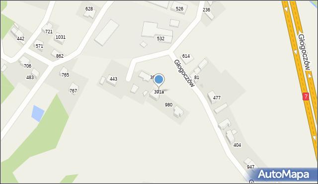 Głogoczów, Głogoczów, 391a, mapa Głogoczów
