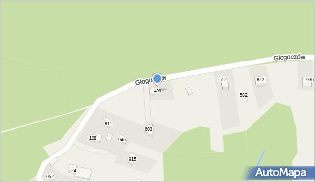 Głogoczów, Głogoczów, 409, mapa Głogoczów