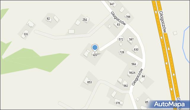 Głogoczów, Głogoczów, 422, mapa Głogoczów