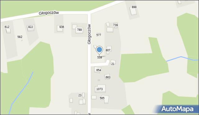 Głogoczów, Głogoczów, 539, mapa Głogoczów