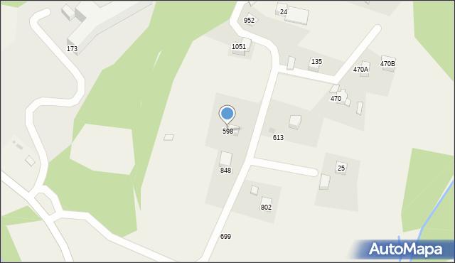 Głogoczów, Głogoczów, 598, mapa Głogoczów