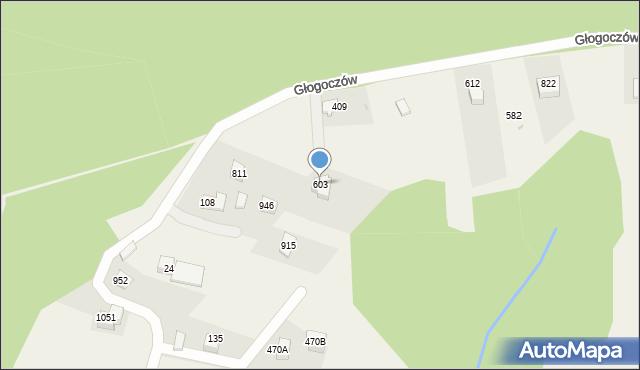 Głogoczów, Głogoczów, 603, mapa Głogoczów