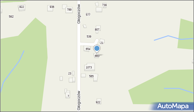 Głogoczów, Głogoczów, 663, mapa Głogoczów