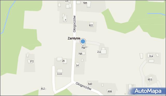 Głogoczów, Głogoczów, 754, mapa Głogoczów