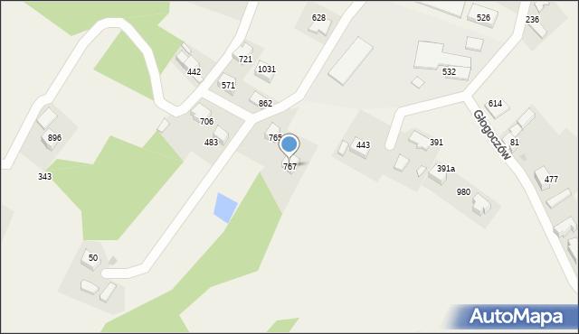 Głogoczów, Głogoczów, 767, mapa Głogoczów
