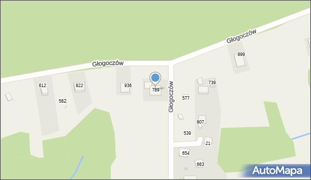 Głogoczów, Głogoczów, 789, mapa Głogoczów