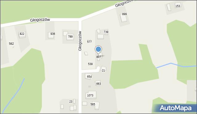 Głogoczów, Głogoczów, 807, mapa Głogoczów