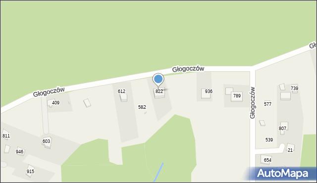 Głogoczów, Głogoczów, 822, mapa Głogoczów