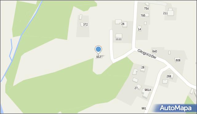 Głogoczów, Głogoczów, 912, mapa Głogoczów