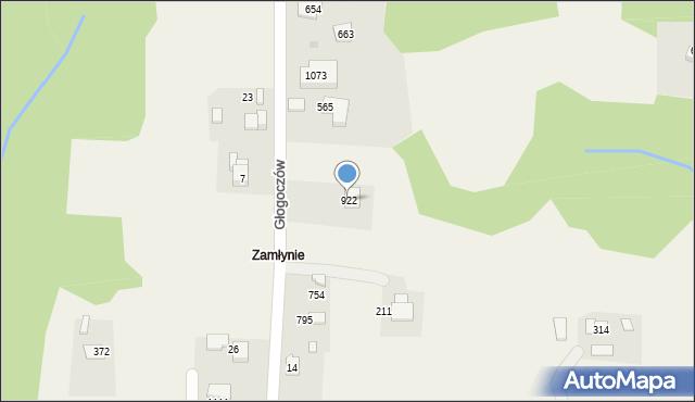 Głogoczów, Głogoczów, 922, mapa Głogoczów