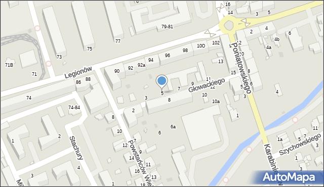 Grudziądz, Głowackiego Bartosza, 5, mapa Grudziądza