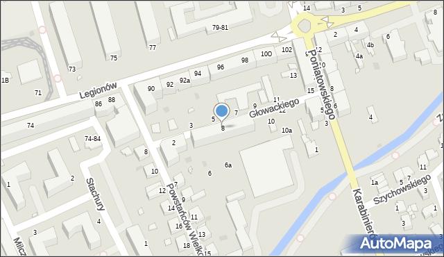 Grudziądz, Głowackiego Bartosza, 8, mapa Grudziądza