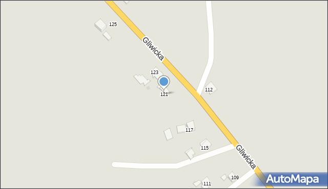 Mikołów, Gliwicka, 121, mapa Mikołów