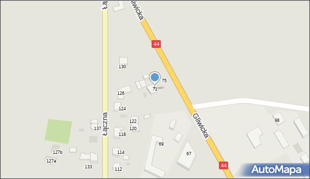 Mikołów, Gliwicka, 71, mapa Mikołów