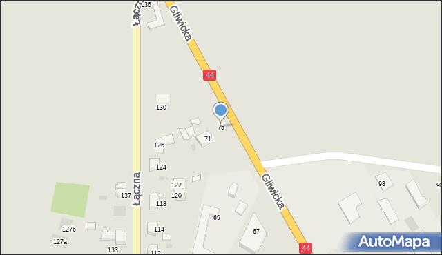 Mikołów, Gliwicka, 75, mapa Mikołów