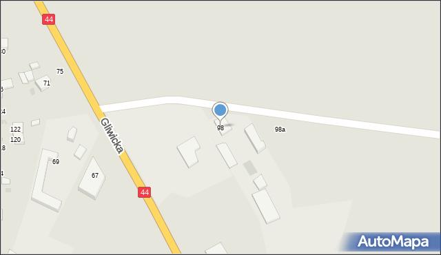 Mikołów, Gliwicka, 98, mapa Mikołów