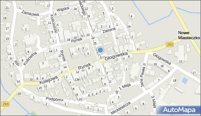 Nowe Miasteczko, Głogowska, 1, mapa Nowe Miasteczko