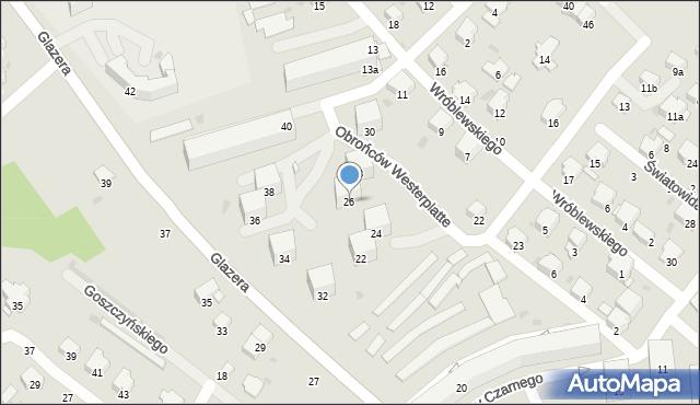 Przemyśl, Glazera Jakuba, bp., 26, mapa Przemyśla