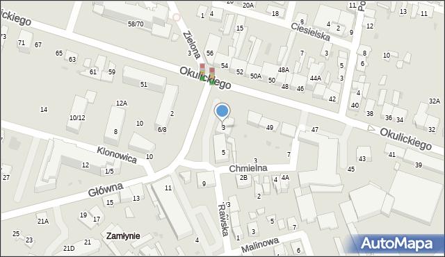 Radom, Główna, 3, mapa Radomia