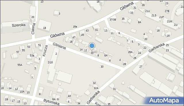 Radom, Gliniana, 10, mapa Radomia