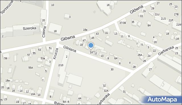 Radom, Gliniana, 14, mapa Radomia
